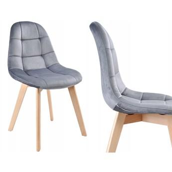 Krzesło aksamitne K-Austin VELVET dsw grafitowe