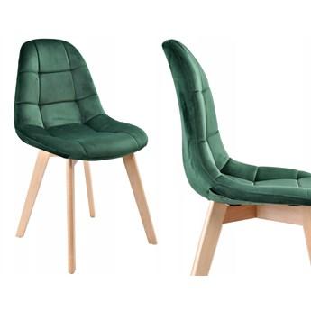 Krzesło aksamitne K-Austin dsw welur ciemno zielony