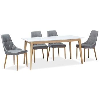 Skandynawski stół z rozkładanym blatem Cesar 160-205x80 cm