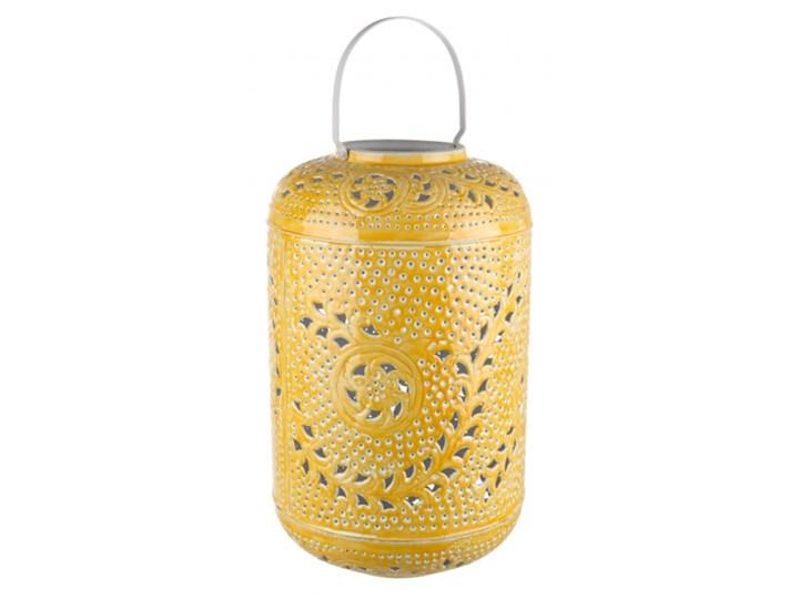 LATARNIA ELEONORE ŻÓŁTA Kolor Żółty Lampion Metal Żelazo Kategoria Świeczniki i świece