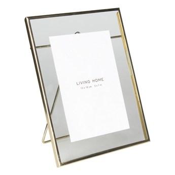 Ramka na zdjęcia Mira 13 x 18 cm złota aluminiowa