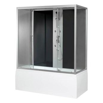 Kabina prysznicowa z hydromasażem Onega 85 x 170 cm asymetryczna wysoki brodzik