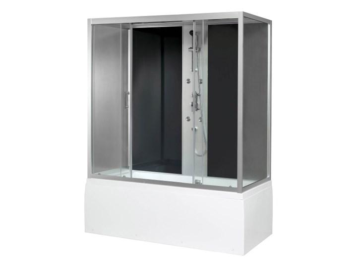 Kabina prysznicowa z hydromasażem Onega 85 x 170 cm asymetryczna wysoki brodzik Wysokość 215 cm Niestandardowa Prostokątna Rodzaj drzwi Rozsuwane