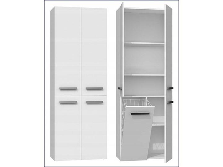 Szafka łazienkowa Malmo 3X - biała Szafki Wysokość 174 cm Wiszące Szerokość 60 cm Kategoria Szafki stojące