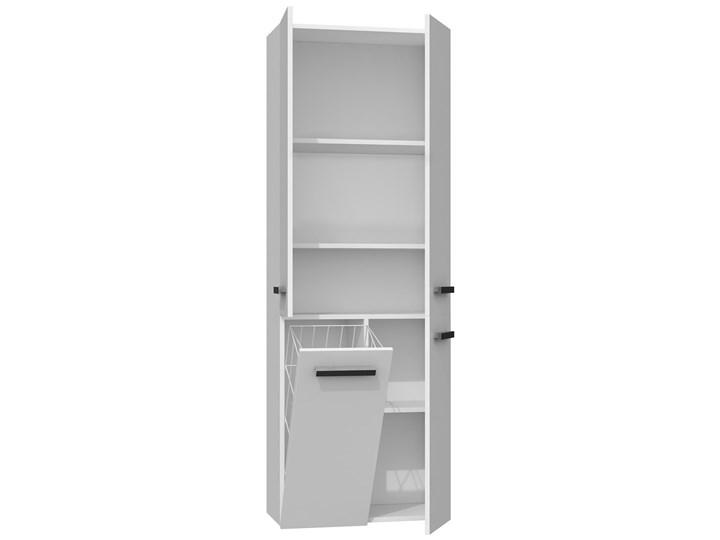 Szafka łazienkowa Malmo 3X - biała Szerokość 60 cm Wysokość 174 cm Wiszące Szafki Kolor Biały