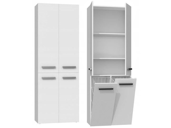 Szafka łazienkowa Malmo 4X - biała Wysokość 174 cm Kolor Biały Szerokość 60 cm Szafki Stojące Kategoria Szafki stojące