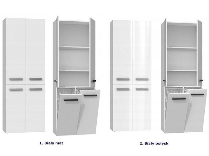 Szafka łazienkowa Malmo 4X - biała Szerokość 60 cm Stojące Wysokość 174 cm Szafki Kolor Biały