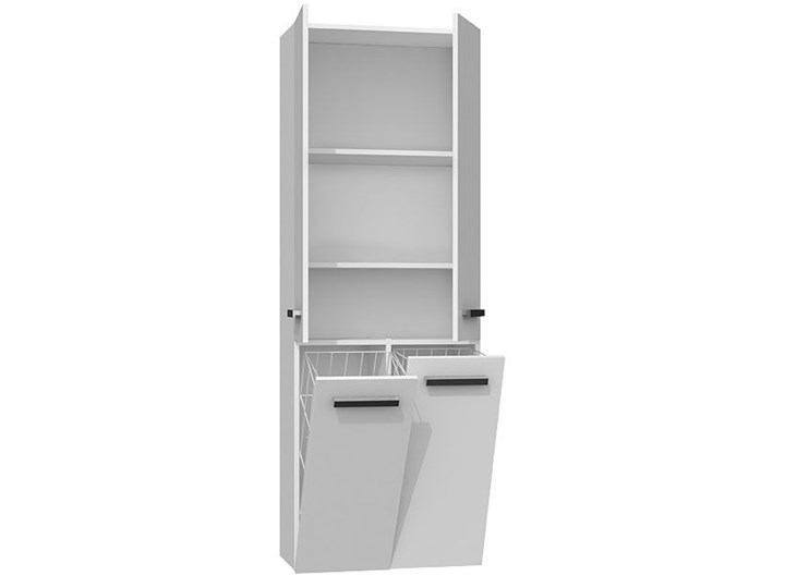 Szafka łazienkowa Malmo 4X - biała Szafki Wysokość 174 cm Stojące Szerokość 60 cm Kategoria Szafki stojące