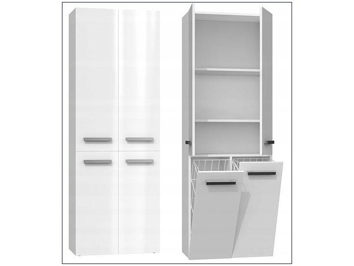 Szafka łazienkowa Malmo 4X - biały połysk Szafki Stojące Kategoria Szafki stojące