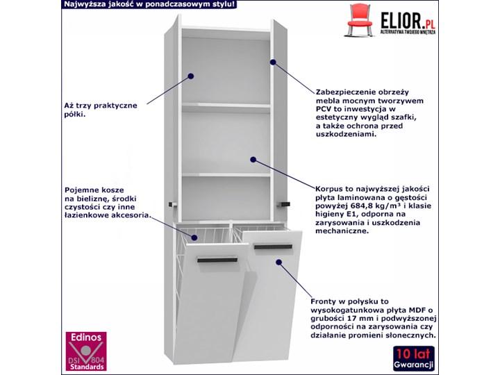 Szafka łazienkowa Malmo 4X - biały połysk Szafki Stojące Kategoria Szafki stojące Rodzaj frontu Drzwiczki