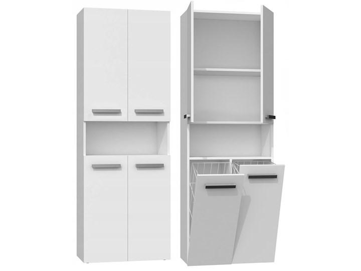 Szafka łazienkowa Malmo 5X - biała Stojące Szafki Kolor Biały Kategoria Szafki stojące