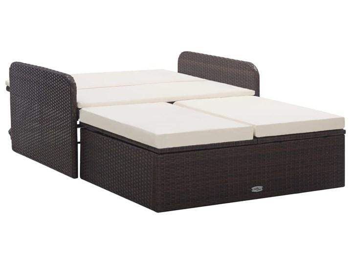 vidaXL 2-cz. zestaw wypoczynkowy do ogrodu, poduszki, rattan PE, brąz Zestawy wypoczynkowe Styl Nowoczesny
