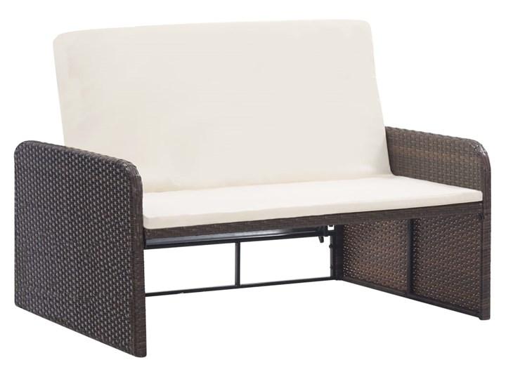 vidaXL 2-cz. zestaw wypoczynkowy do ogrodu, poduszki, rattan PE, brąz Zestawy wypoczynkowe Kolor Brązowy Styl Nowoczesny