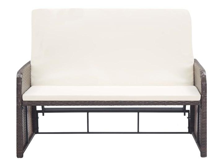 vidaXL 2-cz. zestaw wypoczynkowy do ogrodu, poduszki, rattan PE, brąz Styl Nowoczesny Zestawy wypoczynkowe Kategoria Zestawy mebli ogrodowych