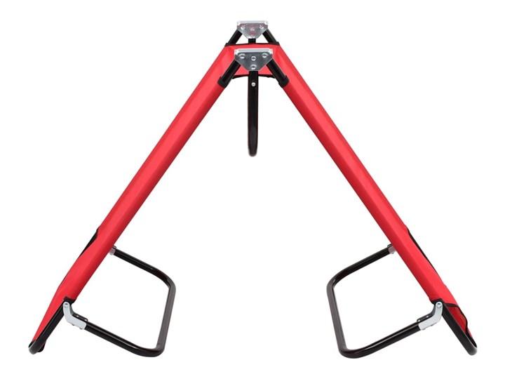 vidaXL Składany leżak, czerwony, stal Metal Składane Kategoria Leżaki ogrodowe