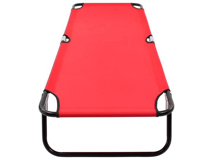 vidaXL Składany leżak, czerwony, stal Składane Metal Kategoria Leżaki ogrodowe