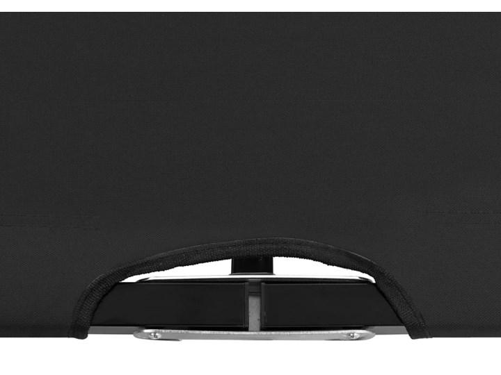 vidaXL Dwuosobowy leżak, składany, czarny, stal Składane Metal Kategoria Leżaki ogrodowe