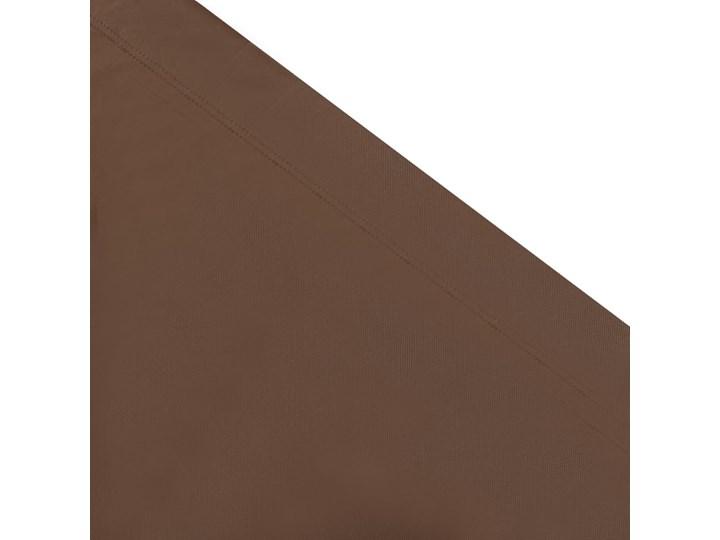 vidaXL Leżak ogrodowy z baldachimem, brązowy Metal Z daszkiem Kategoria Leżaki ogrodowe