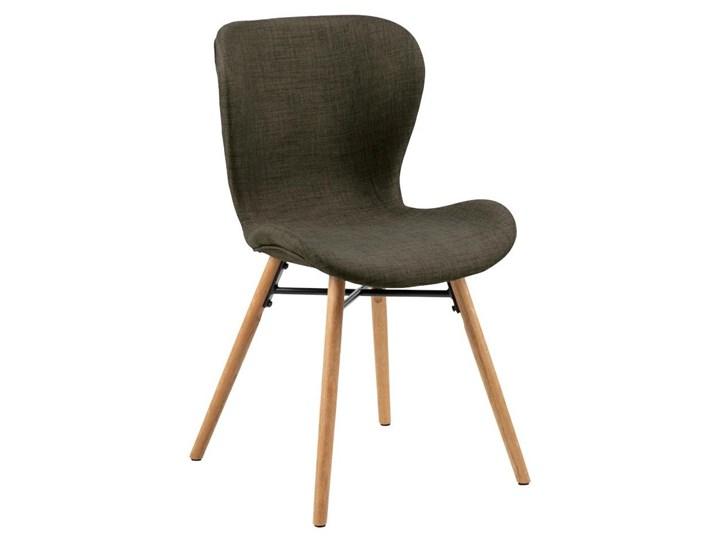 Tapicerowane krzesło jadalniane w stylu skandynawskim