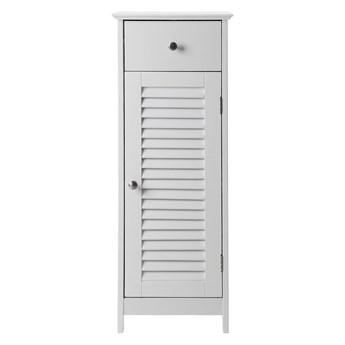 Biała szafka łazienkowa z szufladą i drzwiczkami Songmics, wys. 89 cm