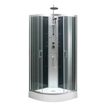 Kabina prysznicowa z hydromasażem Onega 85 cm półokrągła niski brodzik