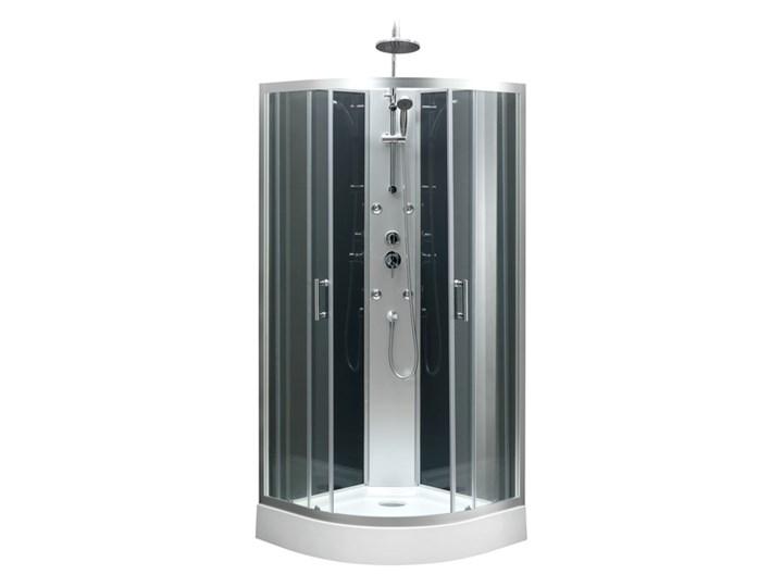 Kabina prysznicowa z hydromasażem Onega 85 cm półokrągła niski brodzik Wysokość 225 cm Narożna Rodzaj drzwi Rozsuwane