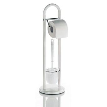 Szczotka toaletowa z uchwytem na papier Kela Fabio biała kod: KE-20975