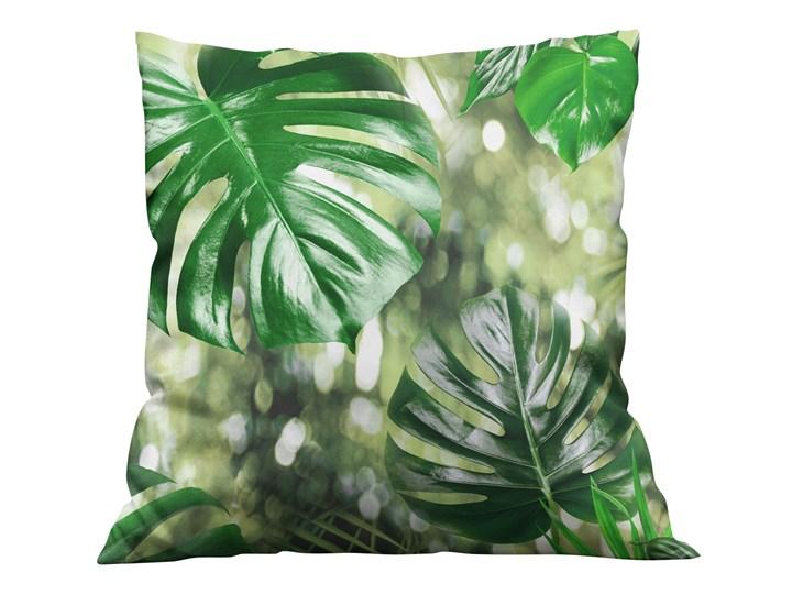 Poszewka dekoracyjna na poduszke w Liście Monstera 3D Kolor Zielony