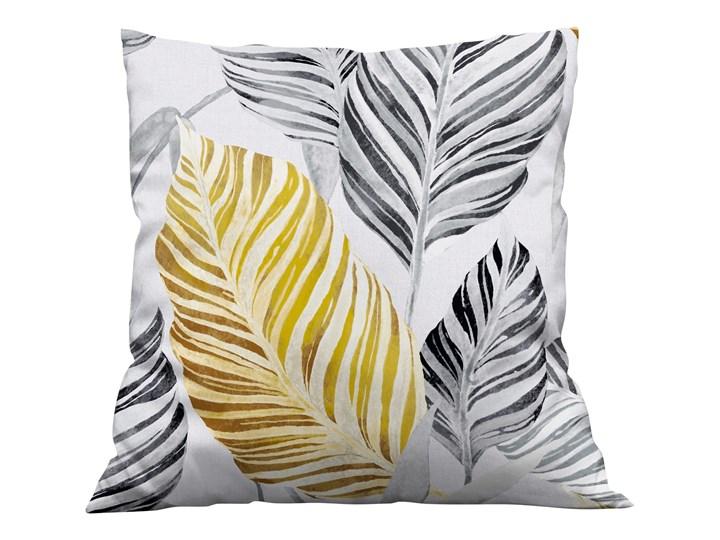 Poszewka dekoracyjna na poduszke w Liście żółto szare