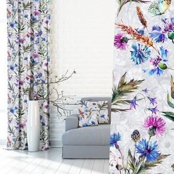Modne zasłony w kwiaty 390078-101