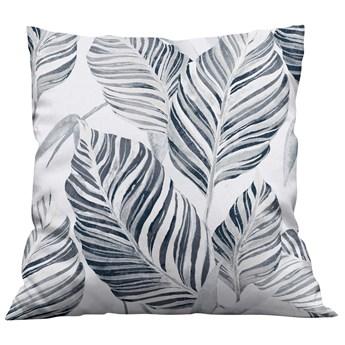 Poszewka dekoracyjna na poduszke w Liście szare