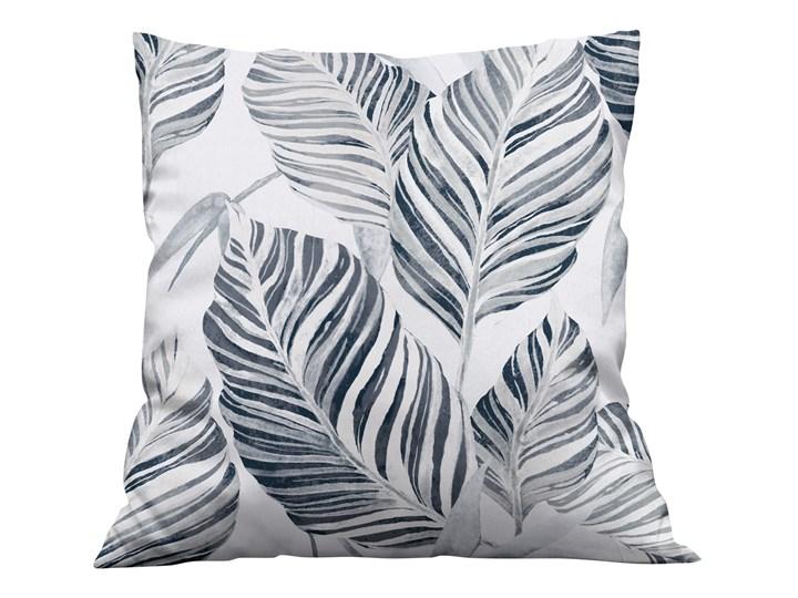 Poszewka dekoracyjna na poduszke w Liście szare Kolor Szary