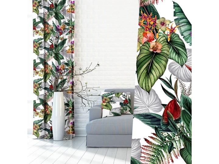 Zasłony w Kwiaty i Liście 390415_101 Kolor Szary