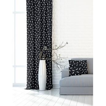 Nowoczesna i minimalistyczna czarna zasłona w białe prostokąty 391182_101