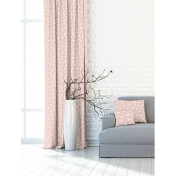 Nowoczesna i minimalistyczna różowa zasłona w białe prostokąty 391182_101