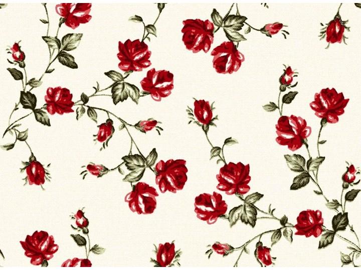 Tkanina w drobne czerwone różyczki szer.150cm Dekoracyjne Kolor Beżowy Kolor Czerwony