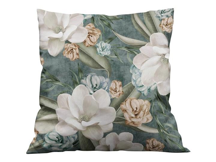 Poszewka dekoracyjna na poduszkę Magnolie 003 Kolor Szary Wzór Roślinny