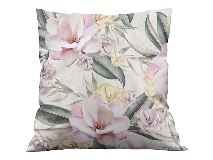 Poszewka dekoracyjna na  poduszkę MAGNOLIE 002 Kolor Szary Wzór Roślinny