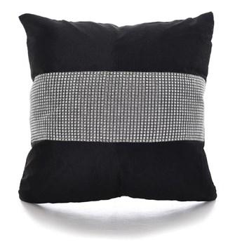 Nowoczesna diamentowa poszewka na poduszkę o wymiarach 40x40 cm kolor czarny HIT Sprzedaży !