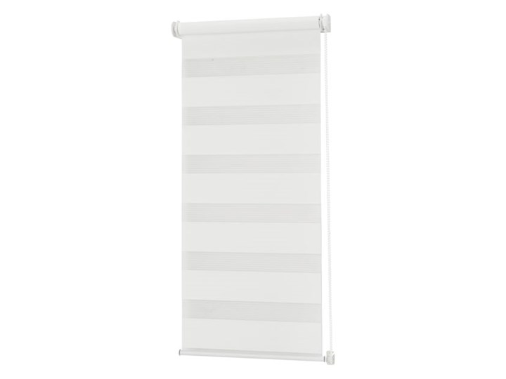 Roleta dzień/noc Colours Elin 51,5 x 140 cm biała Wzór Paski Pomieszczenie Biuro i pracownia