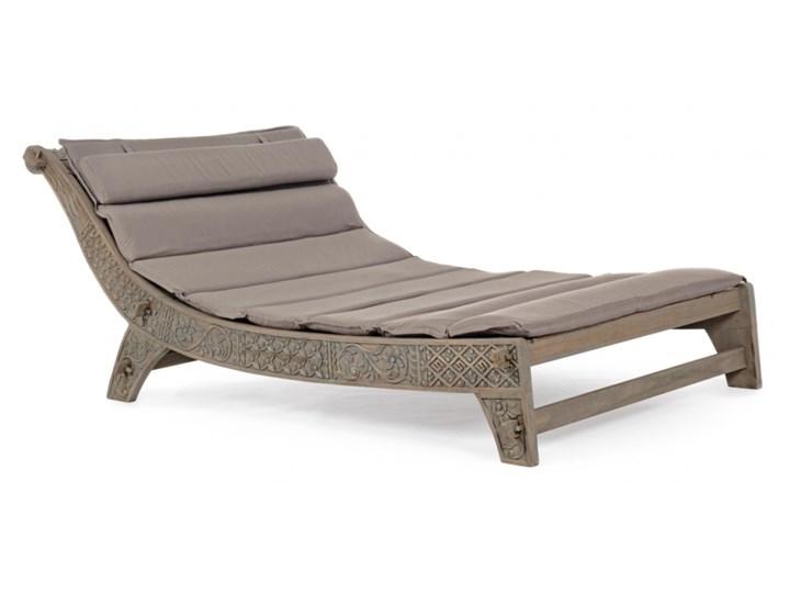 LEŻAK SANUR Kategoria Leżaki ogrodowe Drewno Leżanki Kolor Beżowy