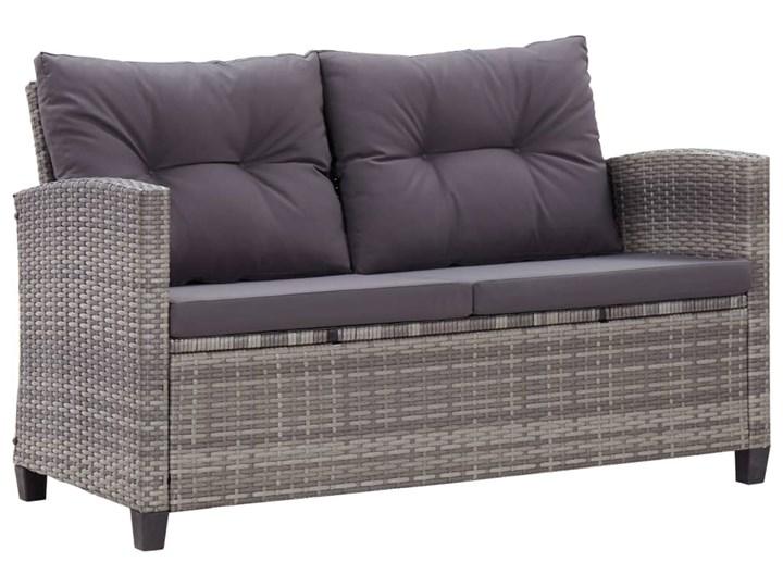 vidaXL 6-cz. zestaw mebli do ogrodu, poduszki, rattan PE, ciemnoszary Tworzywo sztuczne Stal Kategoria Zestawy mebli ogrodowych Zestawy wypoczynkowe Zawartość zestawu Sofa