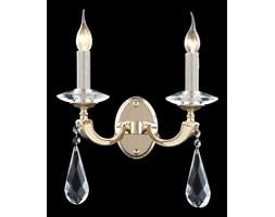 Kryształowy złoty kinkiet glamour 51940-05-W02-GD PAVENA SALON SYPIALNIA JADALNIA HOTEL LUCEA