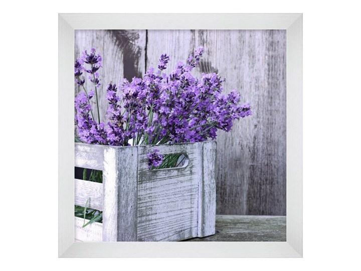 Obraz 20 x 20 cm Lawenda skrzynka Kolor Szary