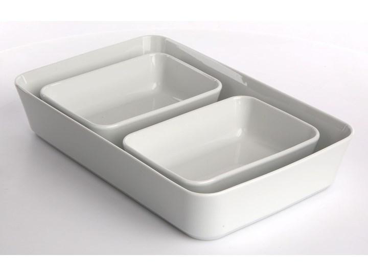 Zestaw naczyń do zapiekania i serwowania porcelana MariaPaula Biała (3 sztuki) Kolor Biały Naczynie do zapiekania Ceramika Kategoria Naczynia do zapiekania