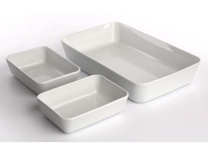 Zestaw naczyń do zapiekania i serwowania porcelana MariaPaula Biała (3 sztuki) Ceramika Naczynie do zapiekania Kolor Biały