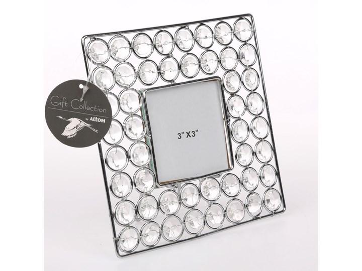 Ramka na zdjęcie z kryształkami kwadratowa Altom Design 16,5 cm Ramka na zdjęcia Pomieszczenie Sypialnia