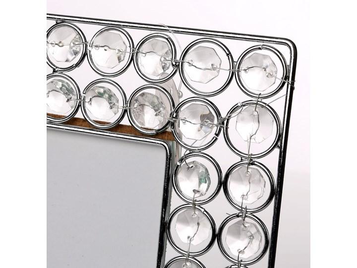 Ramka na zdjęcie z kryształkami kwadratowa Altom Design 16,5 cm Ramka na zdjęcia Pomieszczenie Sypialnia Kolor Srebrny