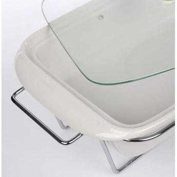 Naczynie żaro / forma do zapiekania z podgrzewaczem ceramiczne prostokątne Altom Design Mesa 2,1 l