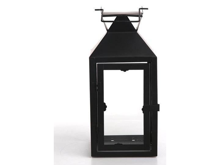 Latarenka / latarnia / lampion ozdobny wiszący metalowy Altom Design kwadratowa czarna 28 cm Kolor Czarny